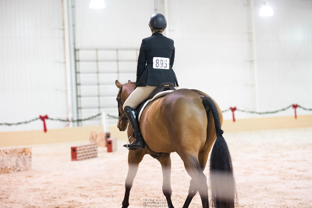 Horse rider in the arena at the Meet Me In St. Louis V facility, the National Equestrian Center.